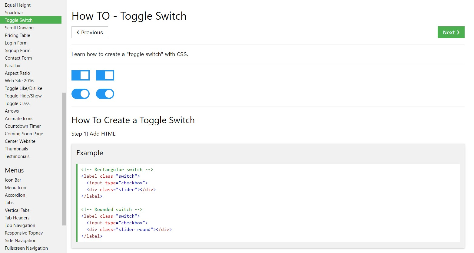 Effective ways to  make Toggle Switch