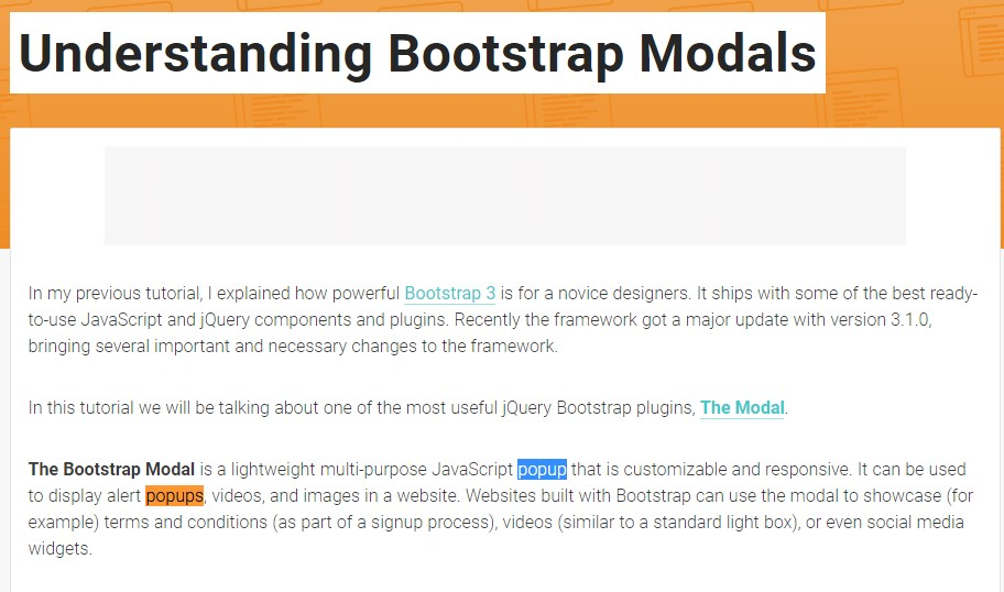 Another useful  post about Bootstrap Modal Popup