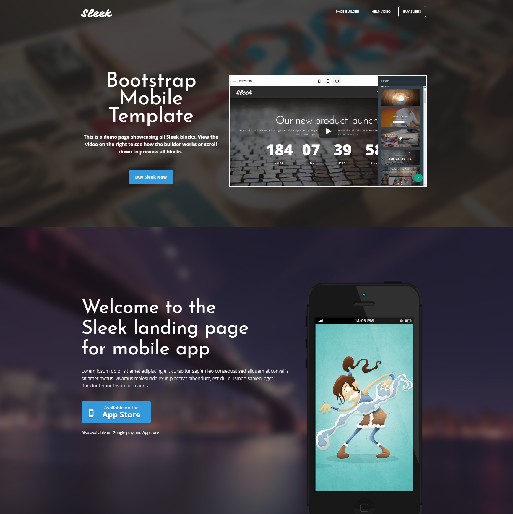 HTML5 Bootstrap Mobile Themes