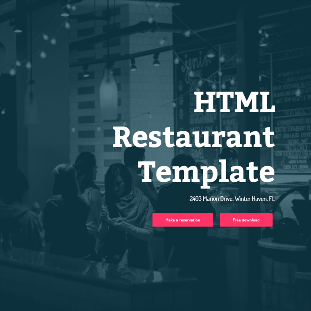 Free Download Bootstrap Restaurant Themes