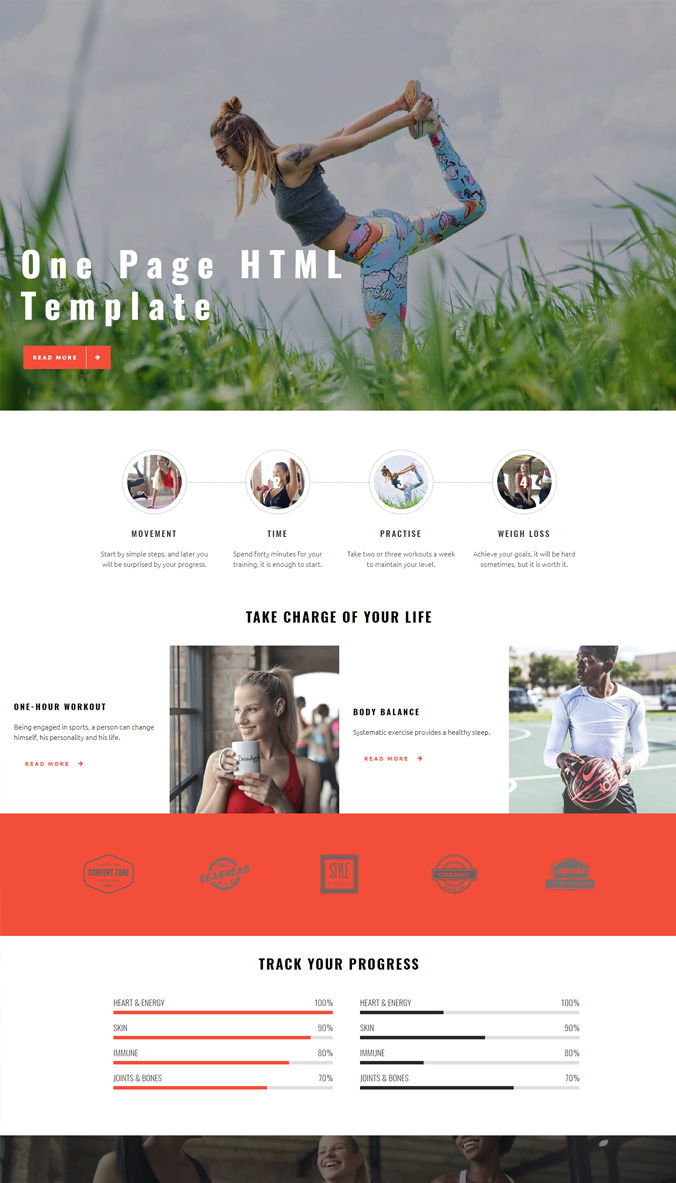 Responsive Content Template