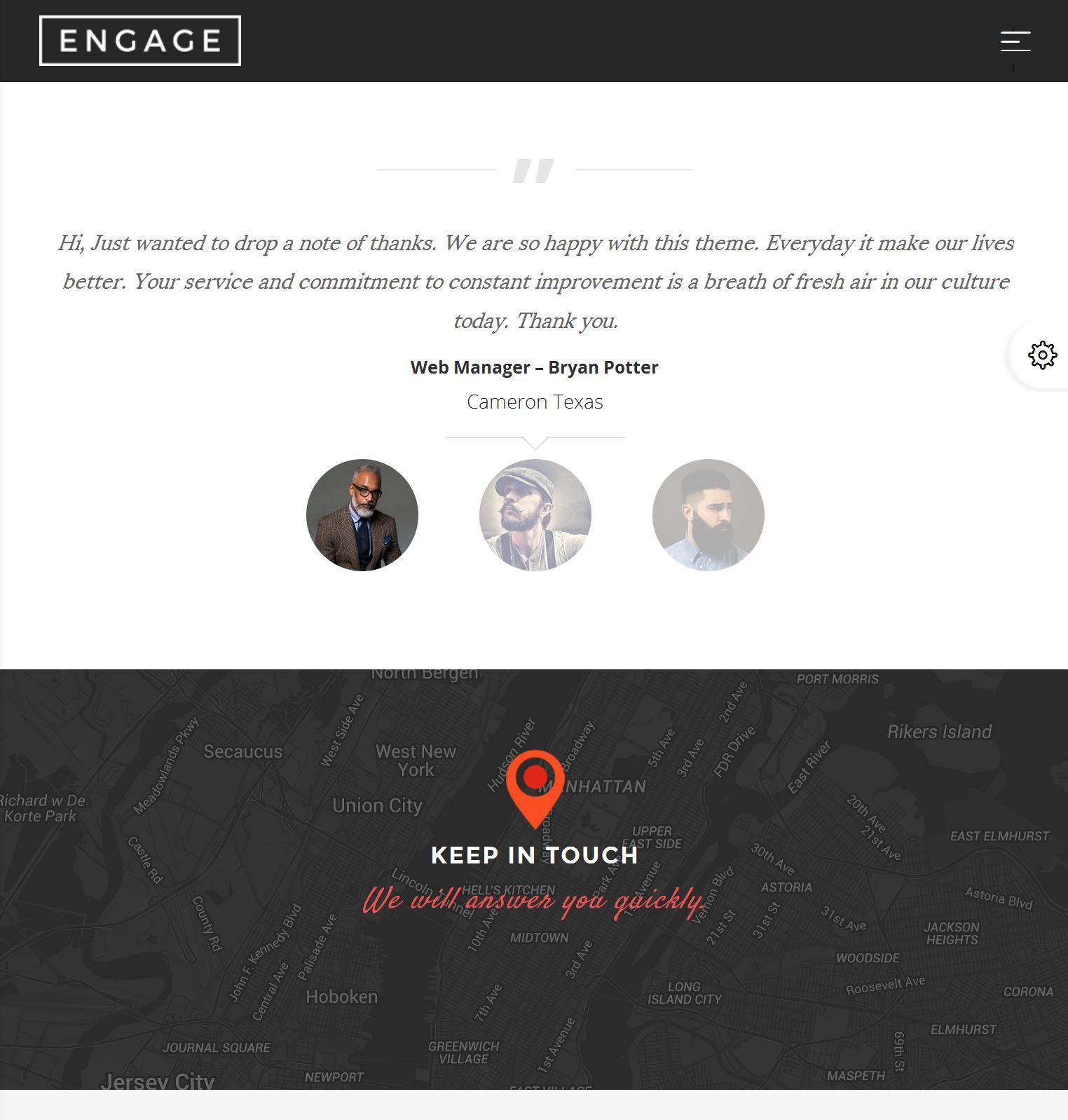 Bootstrap Parallax Template