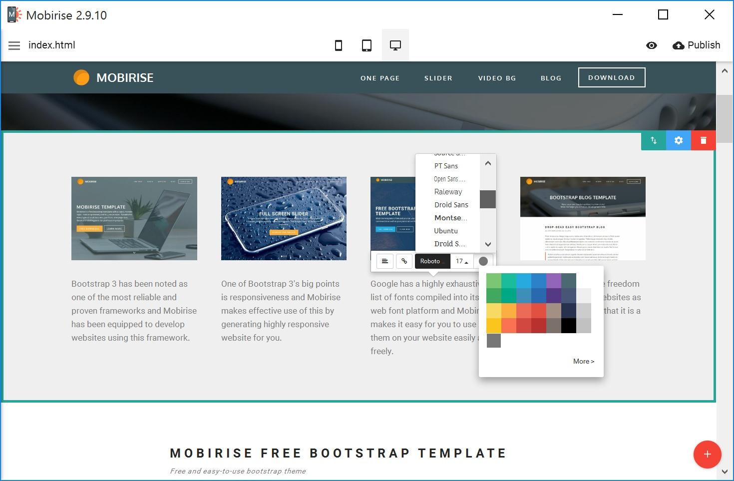 Bootstrap Mobile Website Builder Software