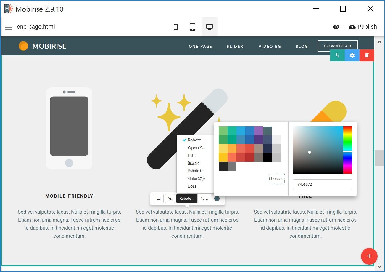 Drag and Drop Mobile Website Generator Software