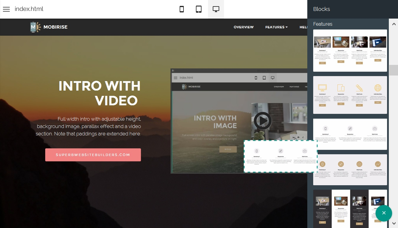 WYSIWYG Web Generator
