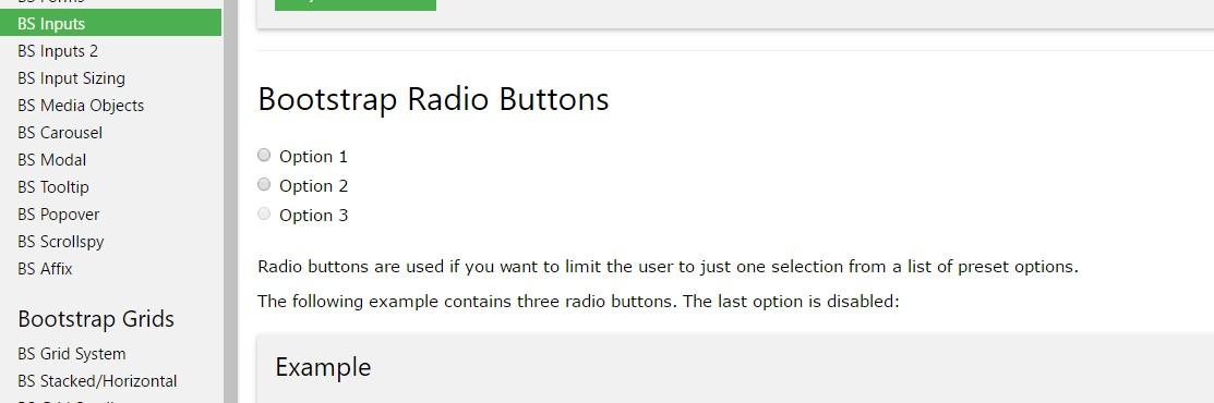 Bootstrap Radio button - tutorial