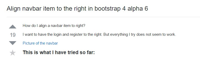 Adjust navbar  object to the right in Bootstrap 4 alpha 6