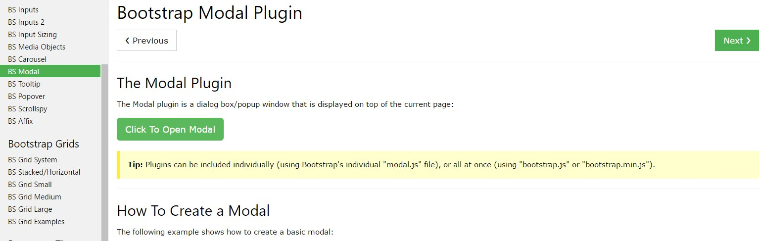 Bootstrap Modal Popup:  training tutorial