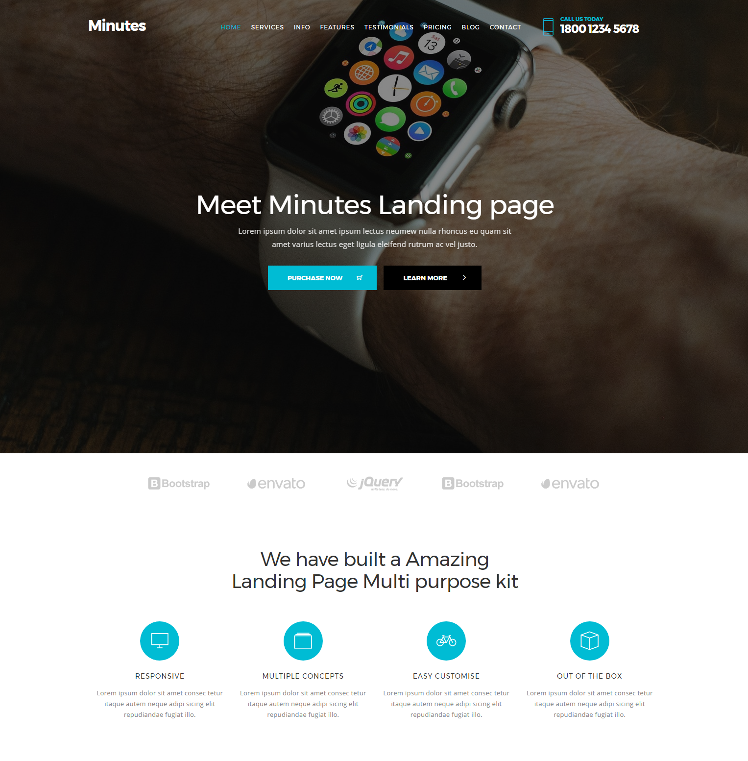 HTML5 Bootstrap Minutes Themes