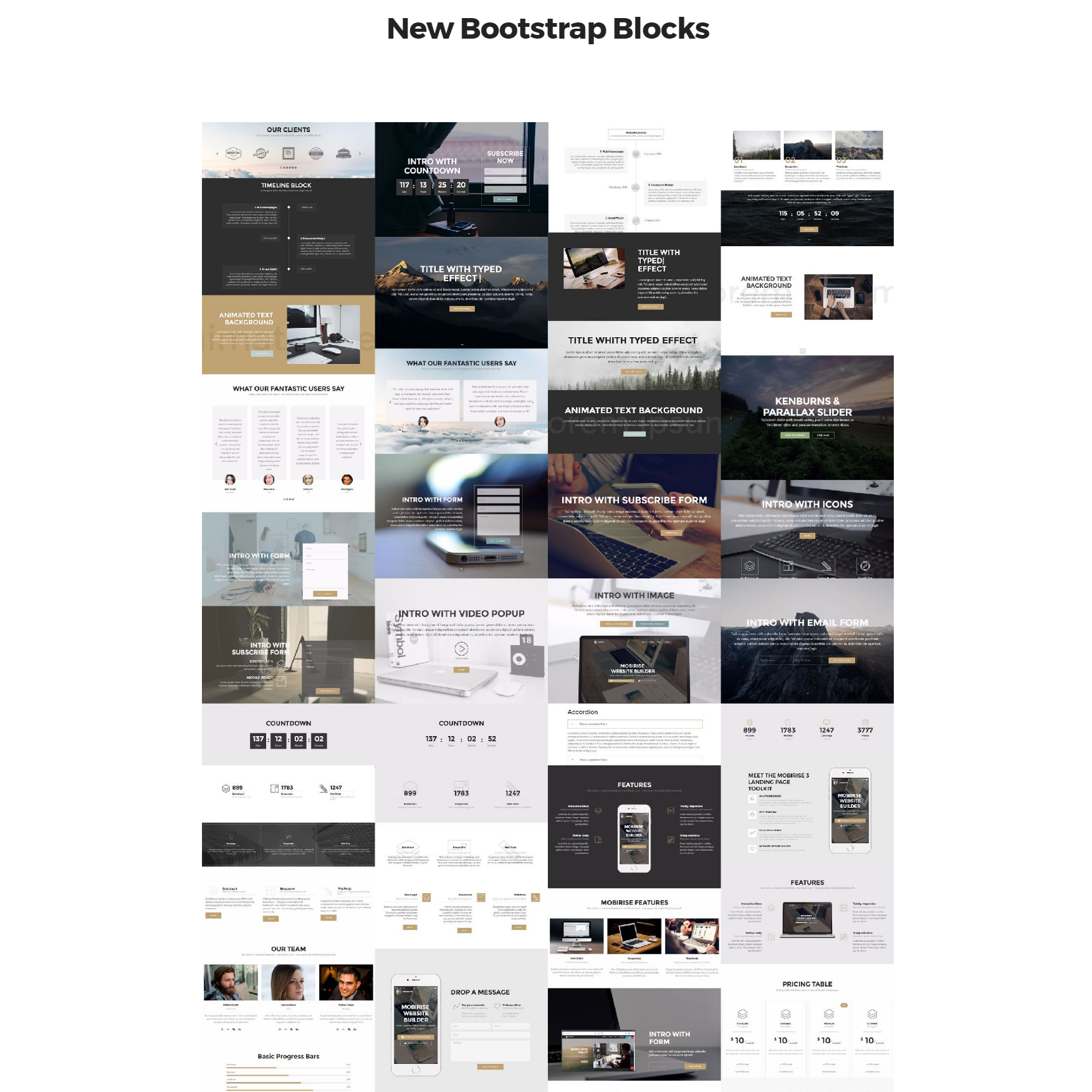 HTML New Bootstrap Templates