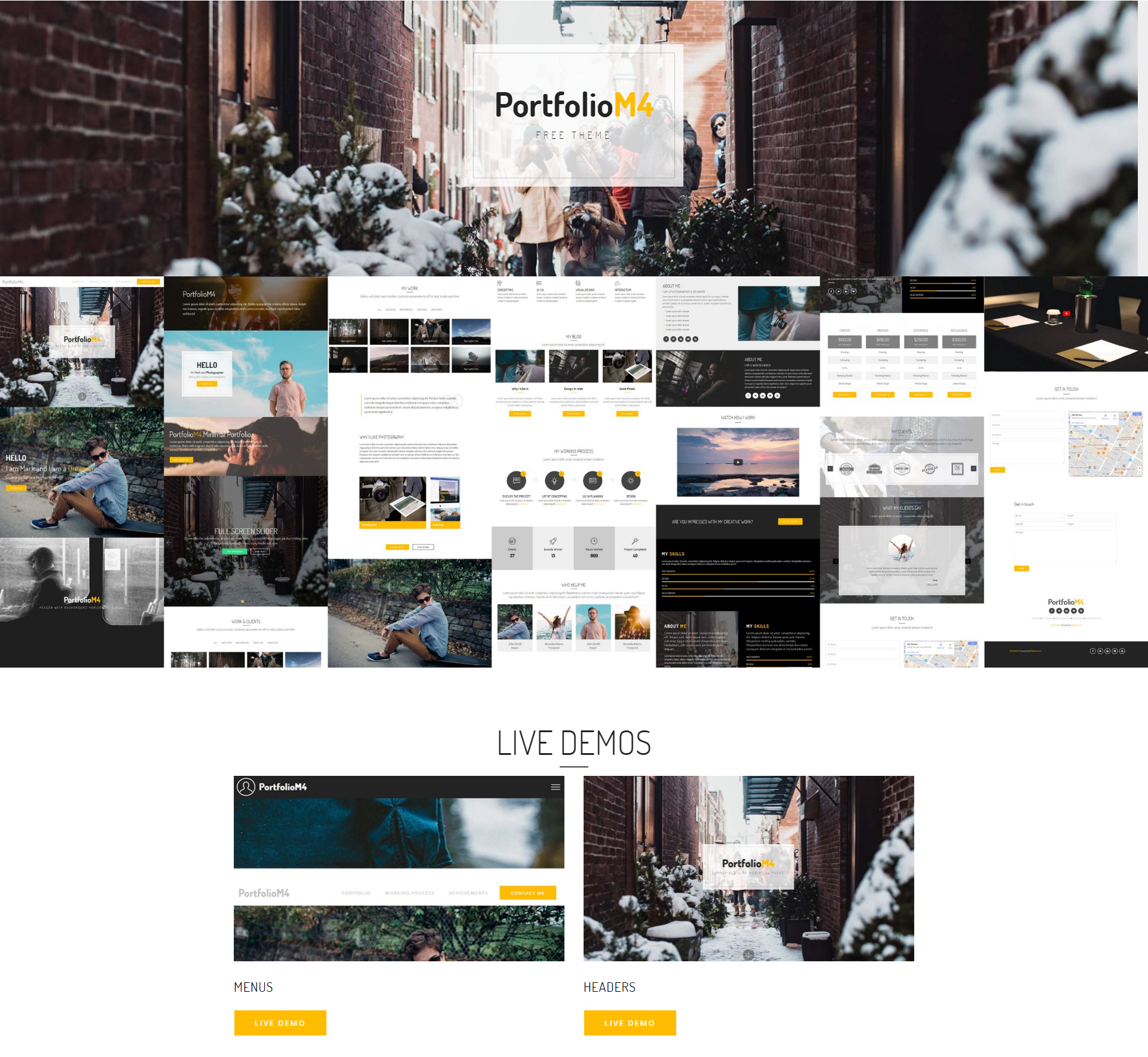Responsive Bootstrap PortfolioM4 Themes