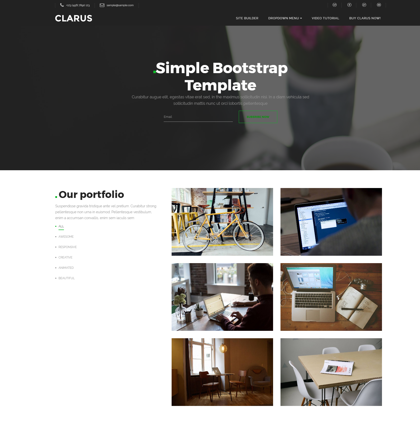 HTML Bootstrap Simple Templates