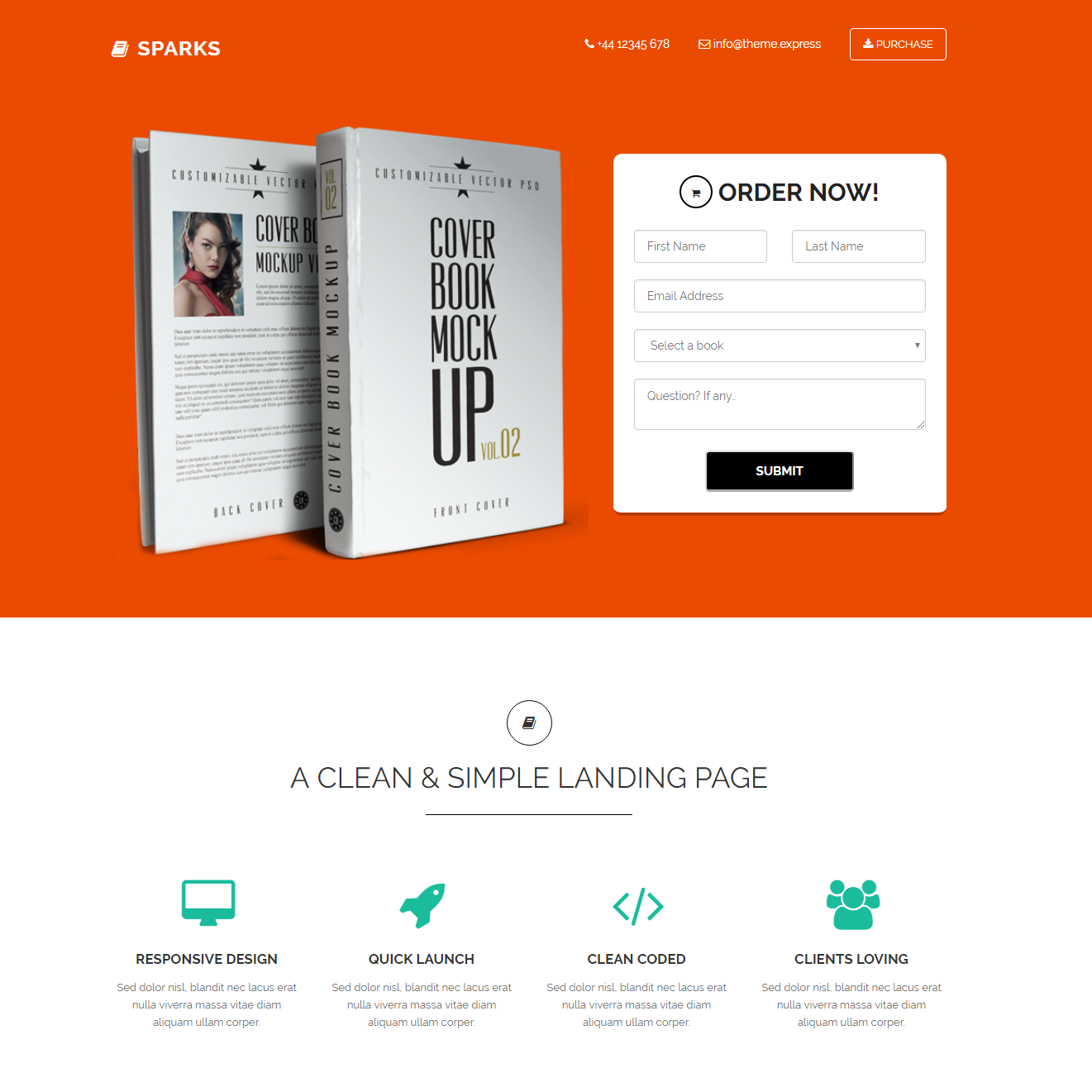 HTML Bootstrap Sparks Themes