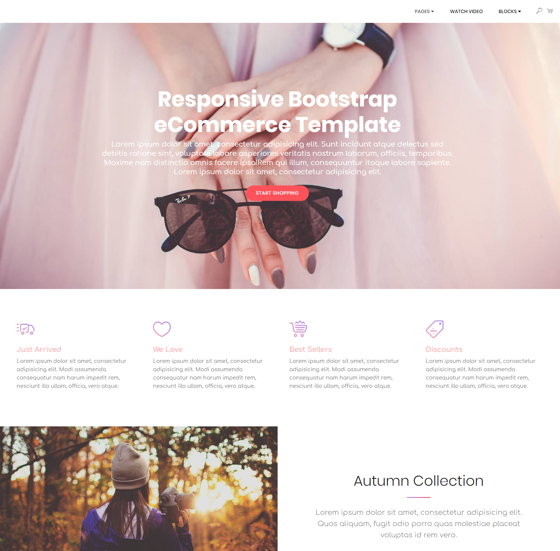 HTML5 Bootstrap Responsive eCommerce Templates
