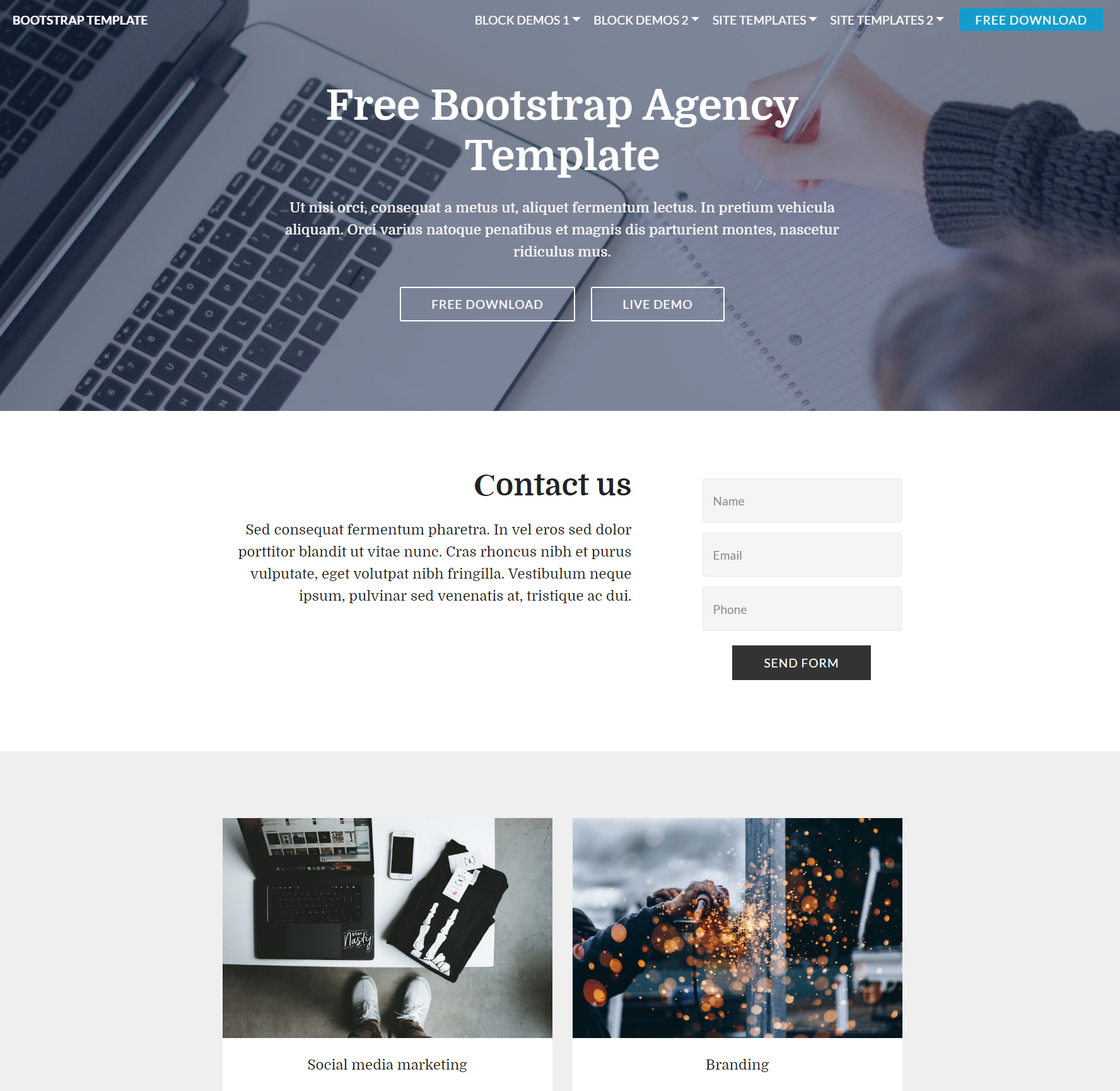 Responsive Bootstrap Agency Templates