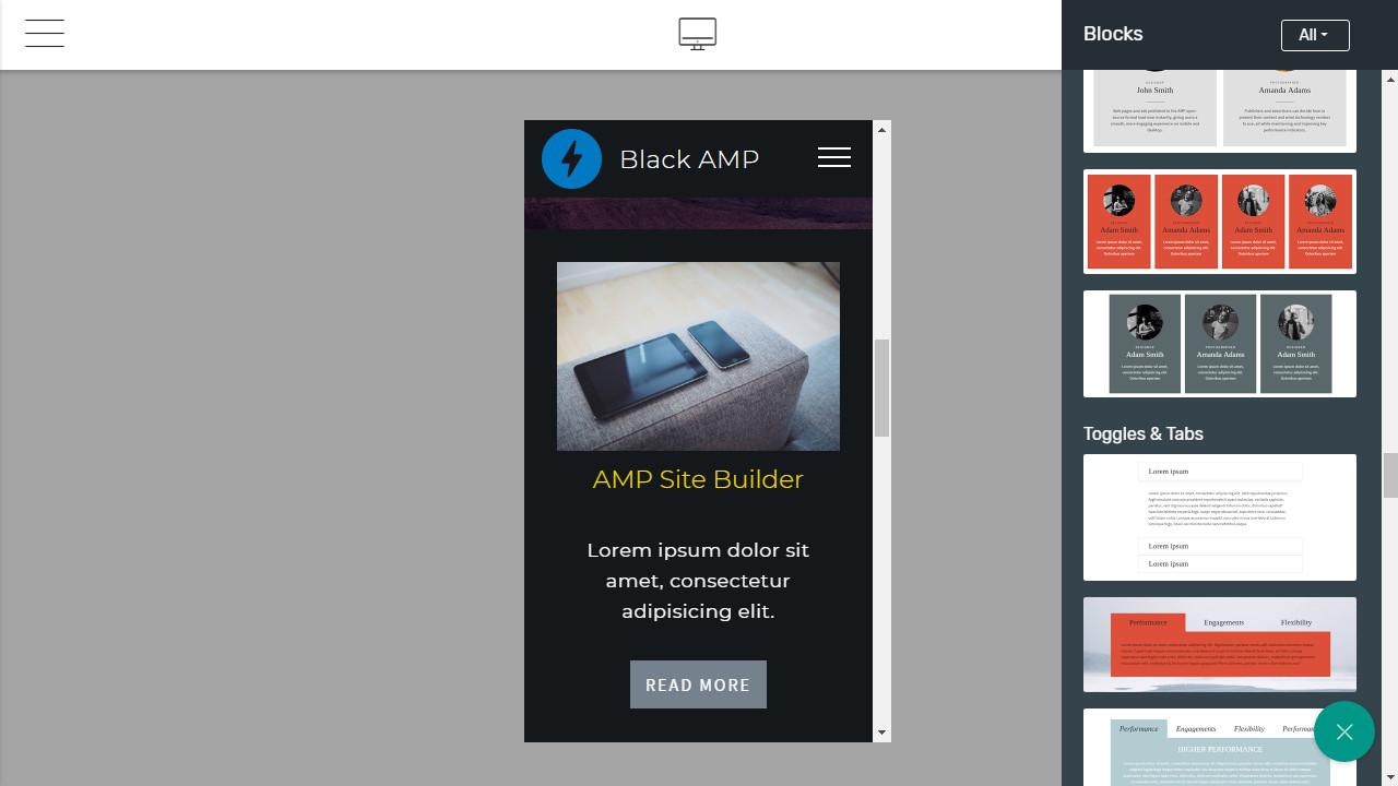 Mobile-friendly Webpage Creator