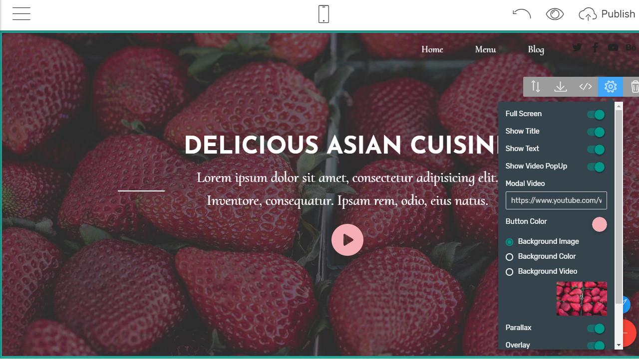 bootstrap responsive menu