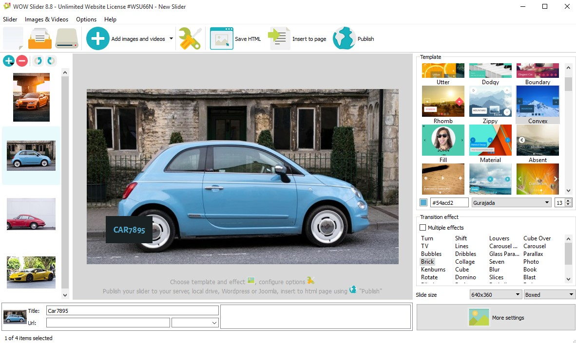 image slider in html